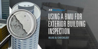 Using a BMU for exterior building inspection