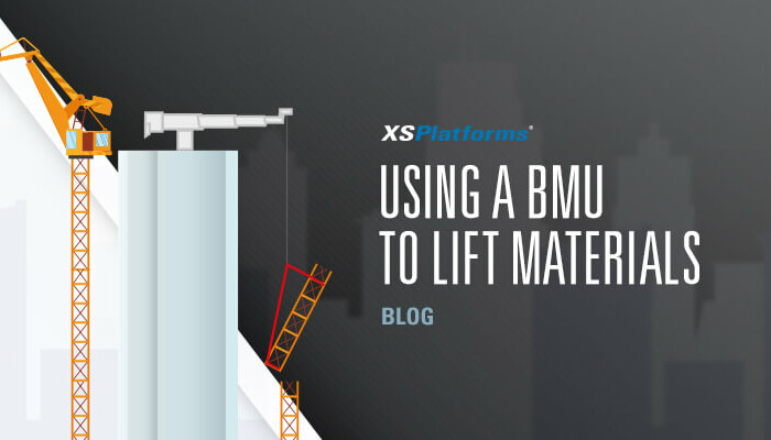 Using a BMU to lift construction materials